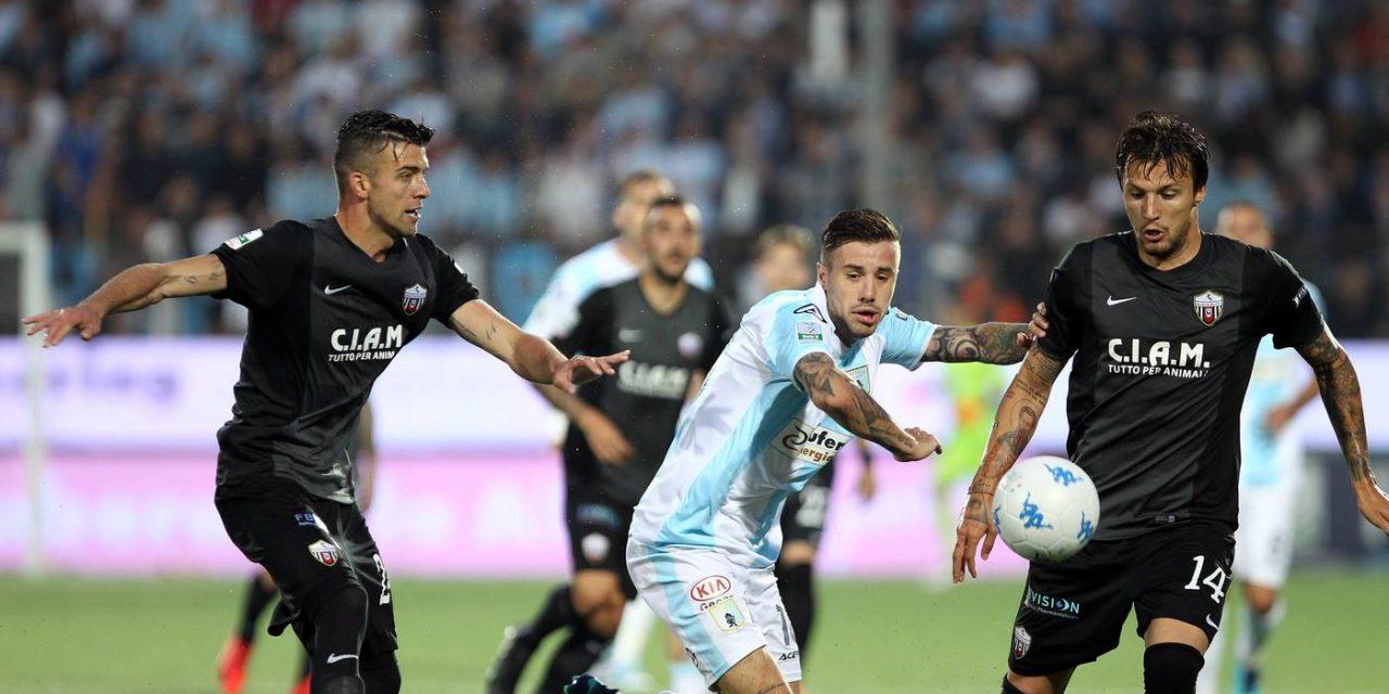Serie B, Pari tra Virtus Entella e Ascoli nell'andata dei Play Out.
