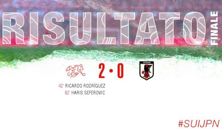 Svizzera-Giappone 2-0, il tabellino del match.