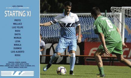 Le formazioni ufficiali di Lazio-Triestina
