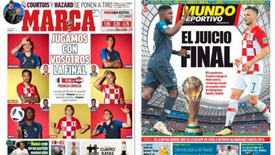 Prime pagine giornali sportivi spagnoli, Mondiale grande protagonista