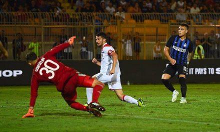 Inter-Lione 1-0, Martinez in gol